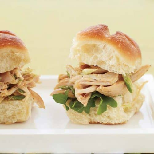 Indian Pulled Chicken Sandwiches Food and Wine
