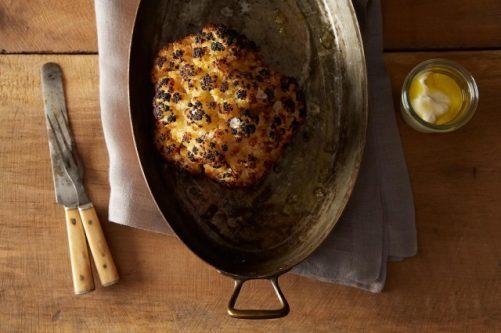 Alon Shaya's Whole Roasted Cauliflower with Whipped Goat Cheese Food 52