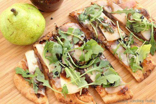 Pear Prosciutto Arugula Pizza|Craving Something Healthy