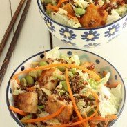 Sesame Tofu Chopped Salad with Red Quinoa|Craving Something Healthy
