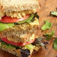 Curried Chickpea Salad Sandwiches|Craving Something Healthy
