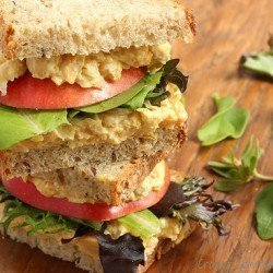 Curried Chickpea Salad Sandwiches Craving Something Healthy
