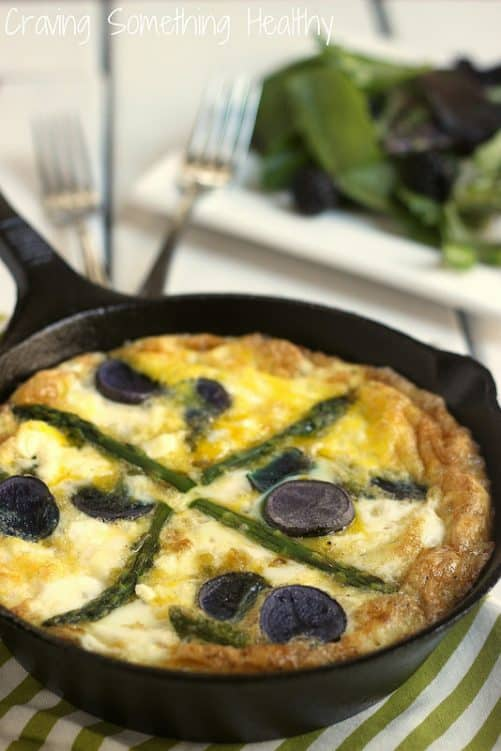 Spring Vegetable Frittata Craving Something Healthy