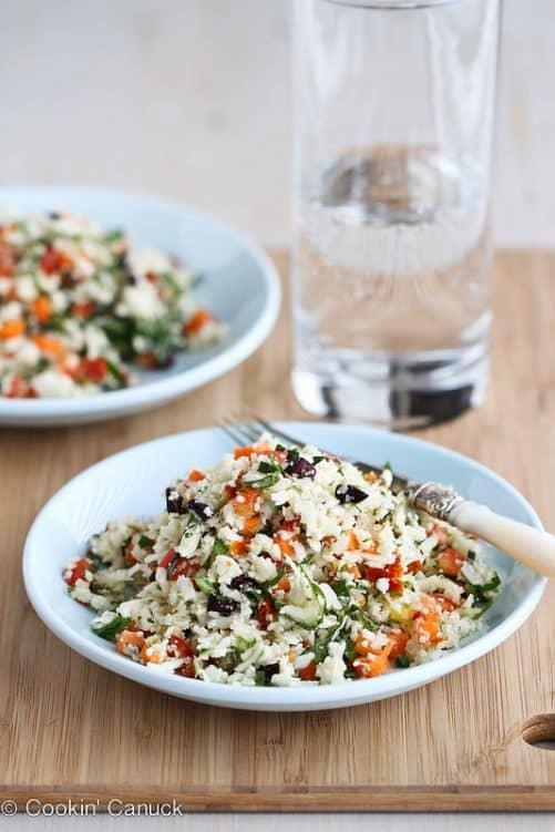 Grated Cauliflower Salad Cookin Canuck