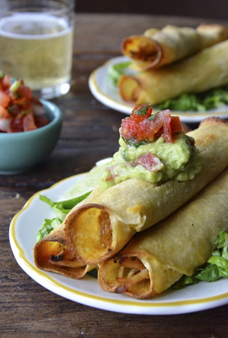 Baked Chicken and Cheese Taquito|Just a Taste