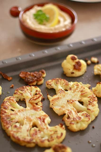 Roasted Cauliflower with Tahini Lemon Sauce Wandering Spice