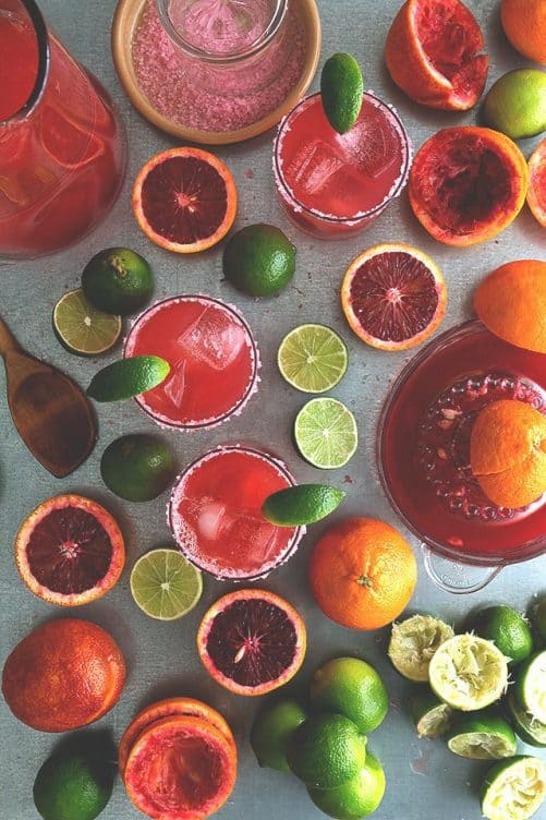 Blood Orange Margarita Pitchers|Honestly Yum