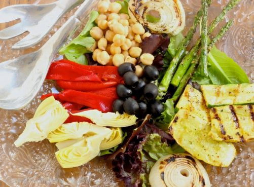 Grilled Mediterranean Vegetable Salad Craving Something Healthy