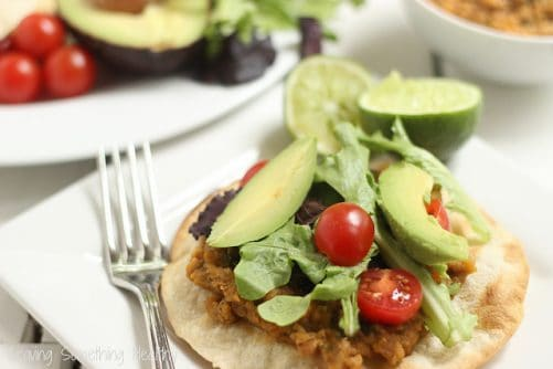 Chipotle Lentil Tostatas|Craving Something Healthy