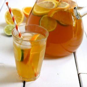 Citrus Spiked Chai Sun Tea {Recipe ReDux}