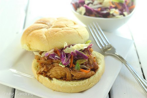 Cranberry-Asian BBQ Chicken Sandwiches