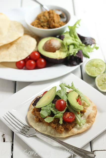 Chipotle Lentil Tostadas Craving Something Healthy