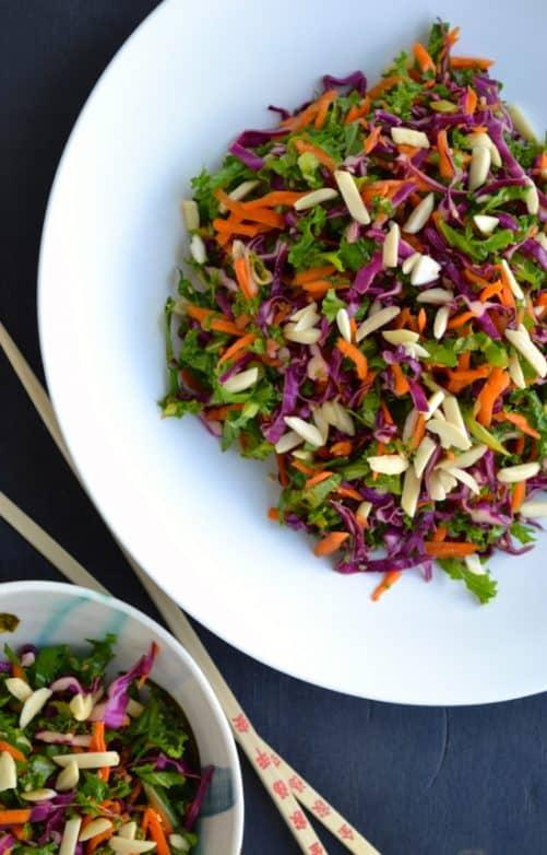 Asian Kale Slaw|Taste Love and Nourish