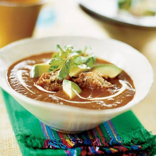 Garlic and Pasilla Chile Soup|Food and Wine