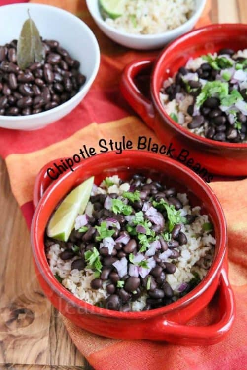 Chipotle Style Black Beans|Jeanette's Healthy Living