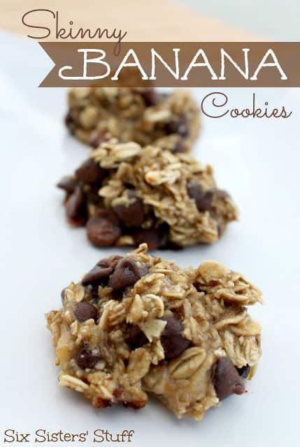 Skinny Banana Cookies|Six Sisters Stuff