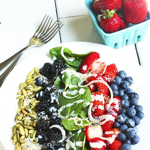 Very Berry Spinach Salad Craving Something Healthy