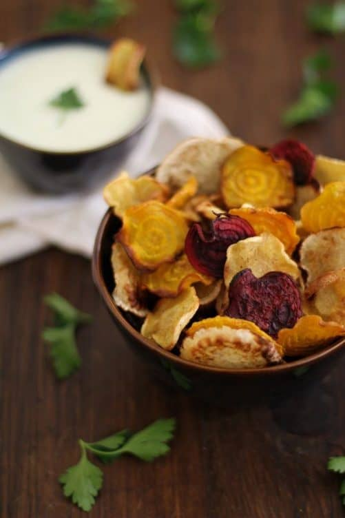 Baked Root Vegetable Chips Oh My Veggies