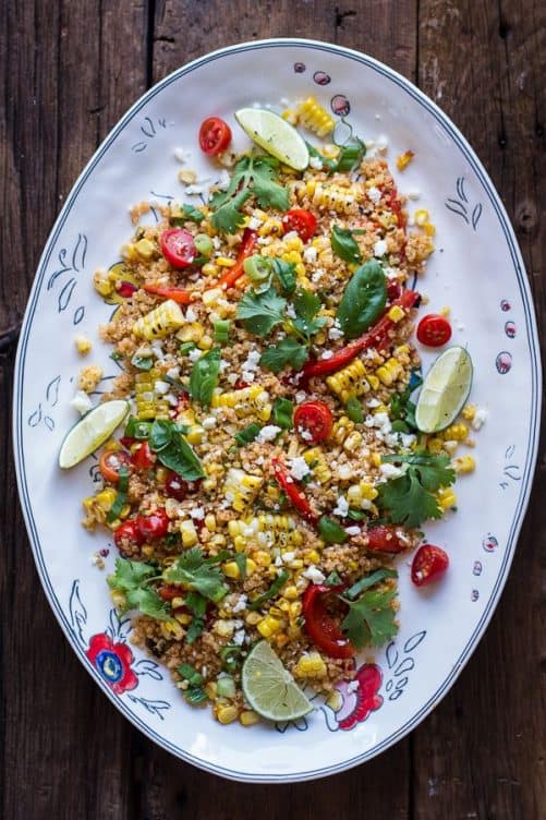 Grilled Mexican Street Corn Quinoa Salad|Half Baked Harvest
