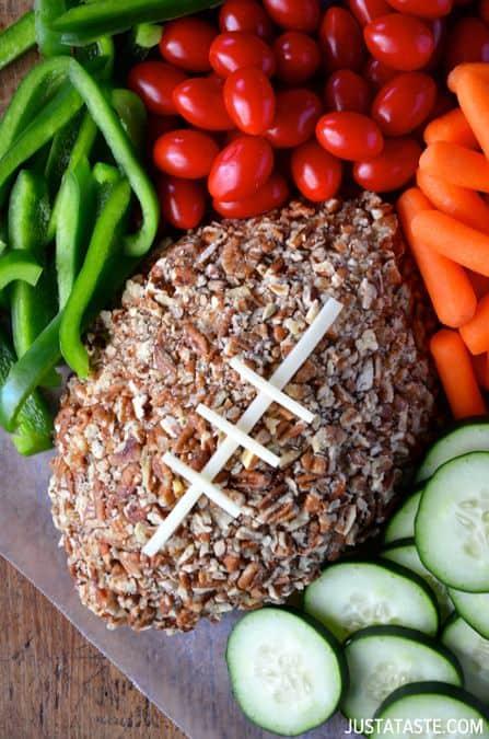 Easy Football Cheese Ball|Just A Taste