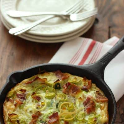 Dinner or Breakfast Pasta Carbonara Frittata