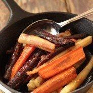 Coriander Honey Glazed Carrots|Craving Something Healthy