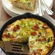 Pasta Carbonara Frittata|Craving Something Healthy