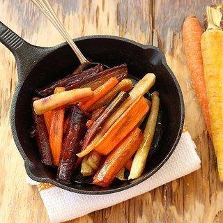 Honey Coriander Glazed Rainbow Carrots