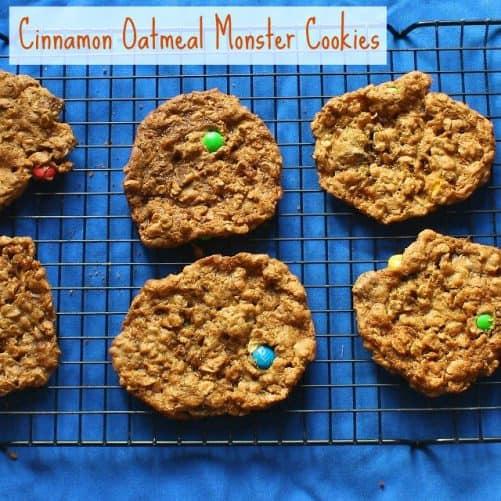 Cinnamon Oatmeal Monster Cookies|Teaspoon of Spice