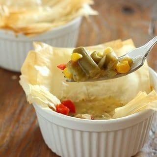 Individual Herbed Vegetable Pot Pies