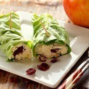 Cranberry Chicken Salad Lettuce Rollups|Craving Something Healthy