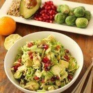 Brussels Sprout Slaw with Pomegranate and Avocado|Craving Something Healthy