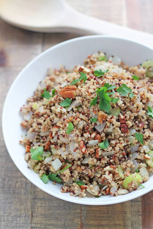 Gluten Free Quinoa Stuffing|In Sonnet's Kitchen