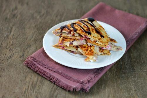 Turkey Cranberry Quesadillas|Emily Bites