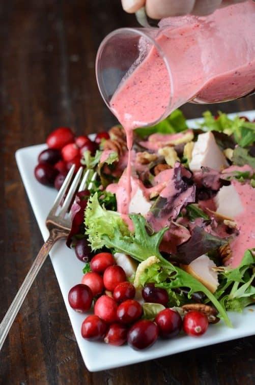 Turkey Salad with Cranberry Vinaigrette|Dixie Crystals