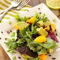 Mango, Avocado and Forbidden Rice Salad {Meatless Monday}