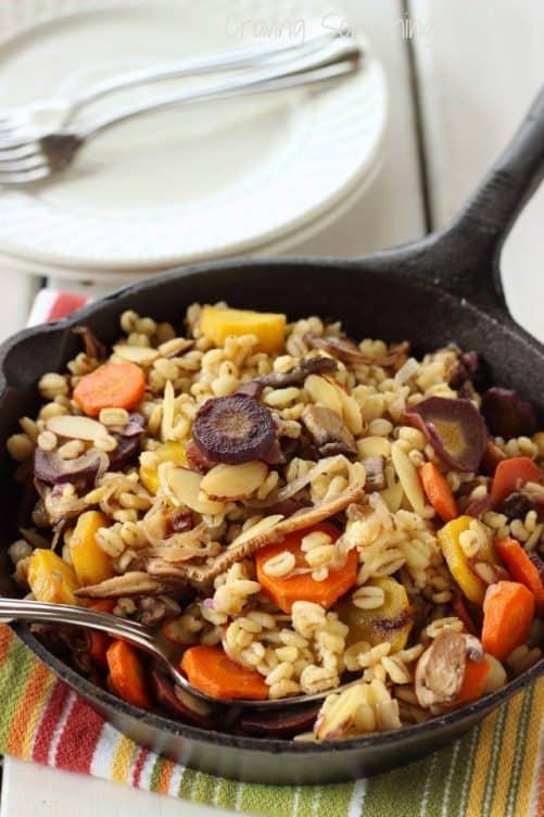 Warm Barley Mushroom Salad|Craving Something Healthy