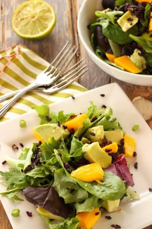 Mango Avocado Salad w/Forbidden Rice Craving Something Healthy