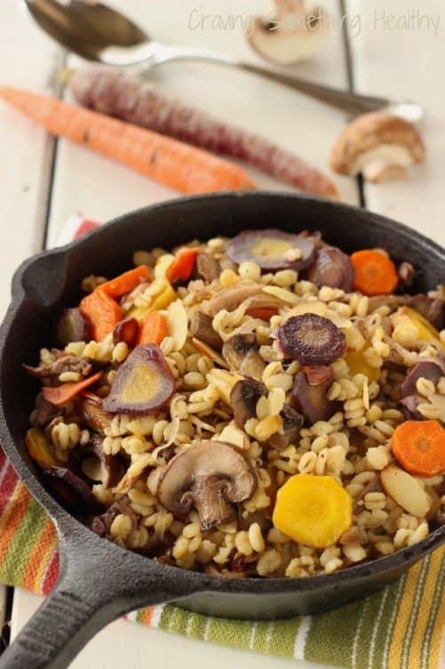 Warm Barley Mushroom Salad Craving Something Healthy