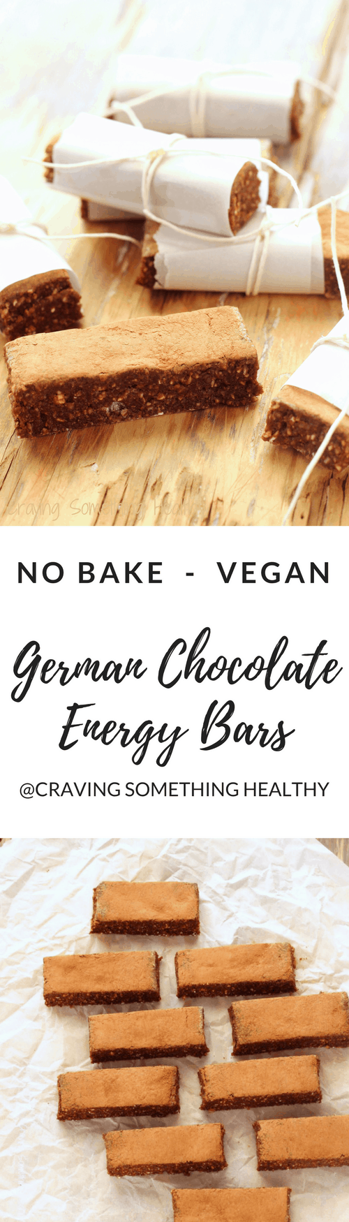 Vegan German Chocolate Energy Bars|Craving Something Healthy