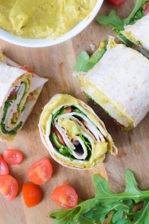 Spicy Avocado Mayo Turkey (or veggie) Club Rollups|The Nutritious Kitchen
