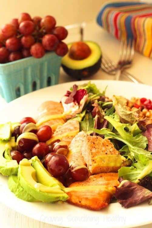 Heart Smart Grilled Salmon Salad Craving Something Healthy
