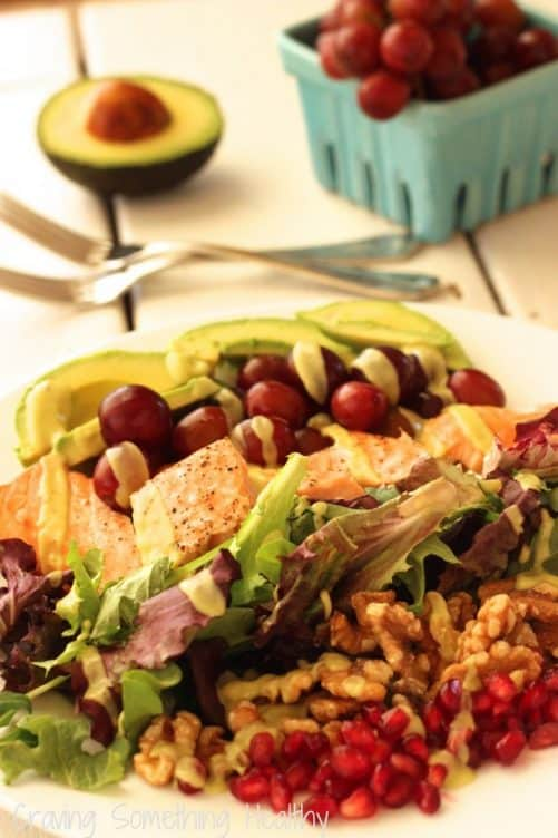 Heart Smart Grilled Salmon Salad|Craving Something Healthy