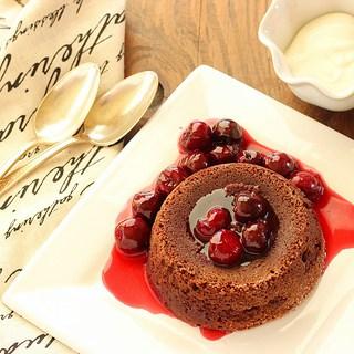 Black Forest Molten Chocolate Cake