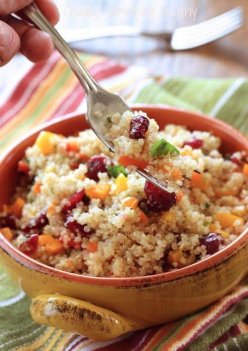 Cranberry Cilantro Quinoa Salad Craving Something Healthy