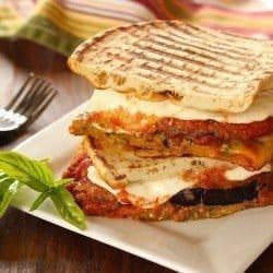 Eggplant Parmesan Panini|Craving Something Healthy