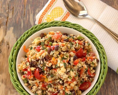 Southwest Cauliflower Rice Confetti Salad