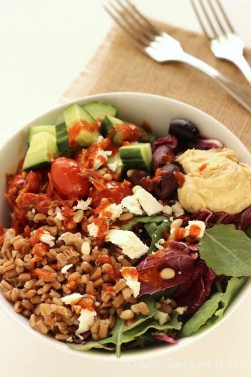 Mediterranean Farro Bowls|Craving Something Healthy