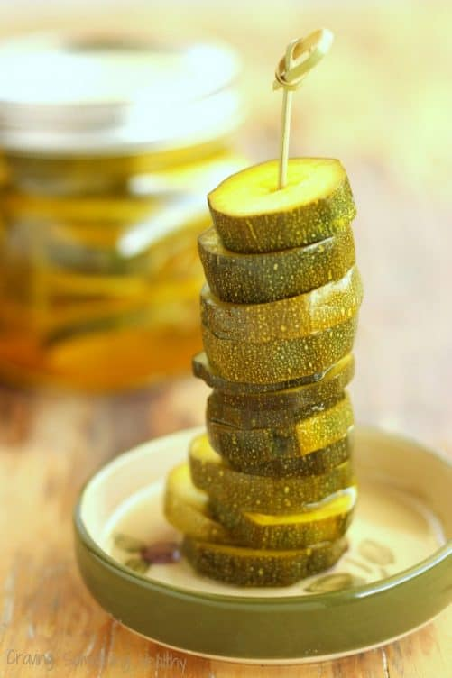 Zesty Zucchini Pickles Craving Something Healthy