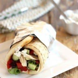 Greek Chicken Gyros with Tzatziki Sauce|Craving Something Healthy